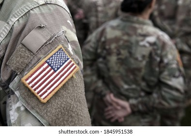 Veterans Day. US soldier. US Army. The United States Armed Forces. American Military. Empty space for text