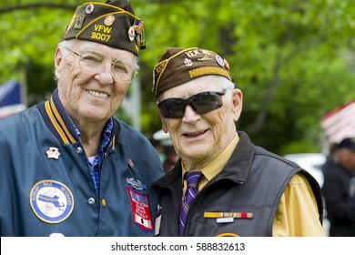Veterans at Memorial Day service.