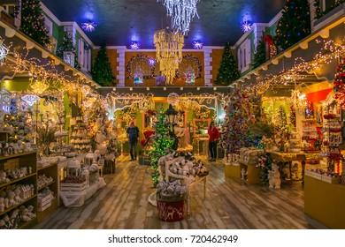 VETRALLA, ITALY - SEPTEMBER 23, 2017: The reign of Santa Claus near Vetralla, Italy