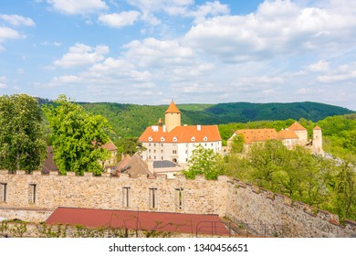 Veveri castle, Czech republic. Old ancient castle near the Brno city in South Moravia region.