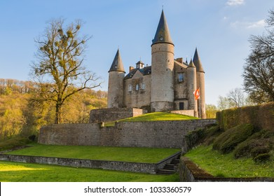 Veves Castle in Belgium - architecture background