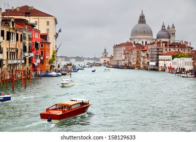 Vew of famous Grand Canal in Venice, Italy