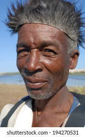 vezo man in the south of madagascar