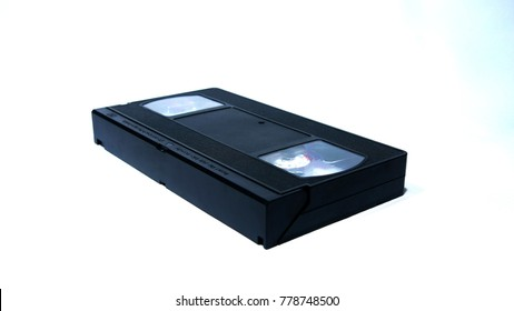 VHS Cassette on White Background, Video Home System