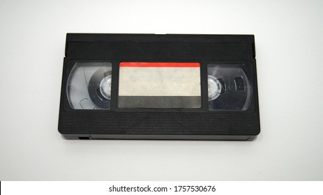 VHS Tape Black Casettee with Film 80's Style