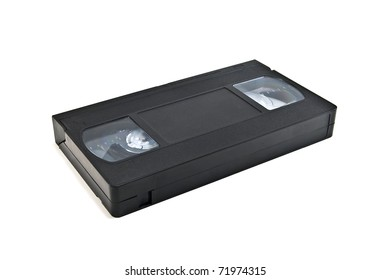 VHS tape isolated on white