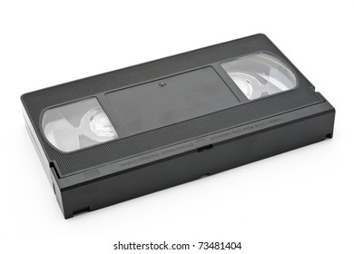 VHS tape isolated on a white background