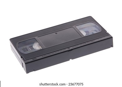 VHS tape on white background
