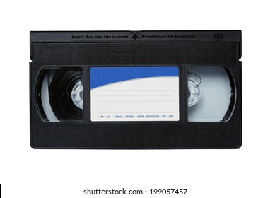 VHS tapes for recording video on isolated on white.