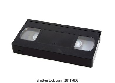 A VHS video cassette with logos/trademarks removed