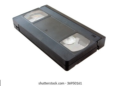 VHS video cassette on a white background