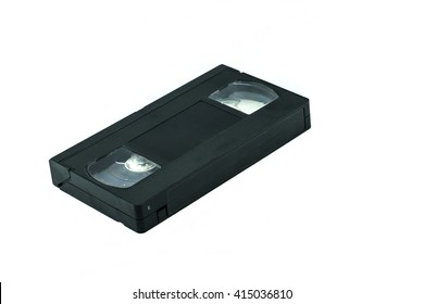 VHS video tape cassette videocassette - Old vhs tape isolated on white background