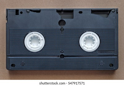 VHS video tape. Old video media.
