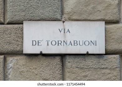 Via de tornabuoni sign in florence