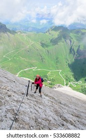 Via ferrata eterna, Dolomites, Italy