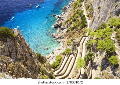 Via Krupp Capri, Italy