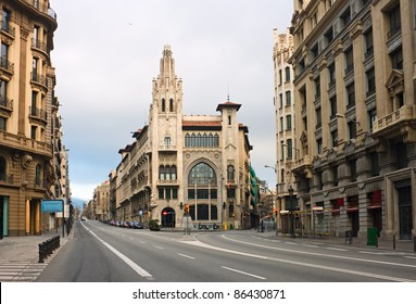 Via Laietana is one of the main streets of Barcelona, Spain.