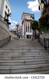 Via Rodeo stairs in Beverly Hills