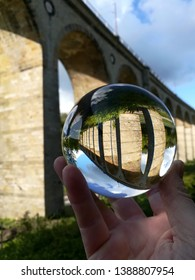 the viaduct Altenbeken in the crystal ball