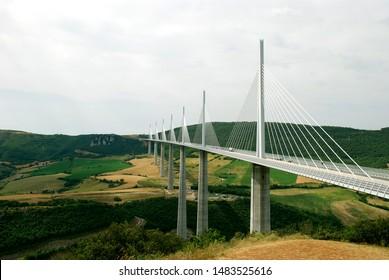 Viaduct de Millau Bridge, Tarn, France