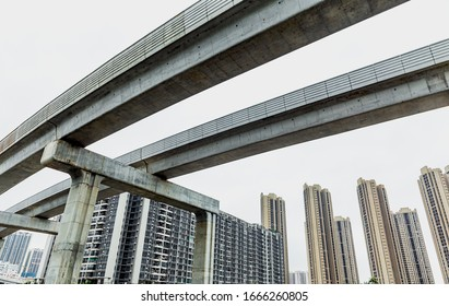 Viaduct Metro Light Rail in southern China