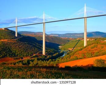 Viaduct of Millau,Aveyron,France