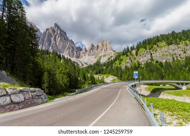 Viaduct on a mountain road