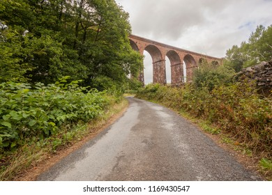 A  Viaduct on the route of the 'dales way' long distance trail in England.