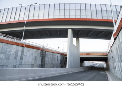 Viaduct over new road , Poland