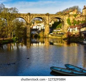 Viaduct over River Knidd in Knaresborough, the UK