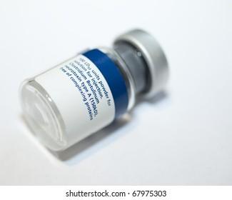 A vial of botulinum toxin