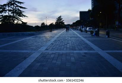 Viale America street, Rome - Italy