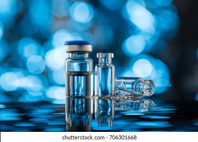Vials for vaccine injection, to be filled in syringes for medical Treatment.