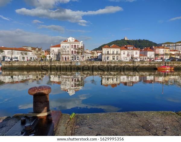 Viana do Castelo cityscape in the morning.