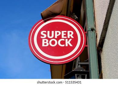 VIANA DO CASTELO, PORTUGAL - AUGUST 4, 2016: Super Bock in Portugal. The Super Bock beer is a Portuguese based in Porto in 1927.