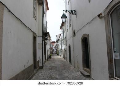 VIANA DO CASTELO, PORTUGAL - AUGUST 13, 2017: old street