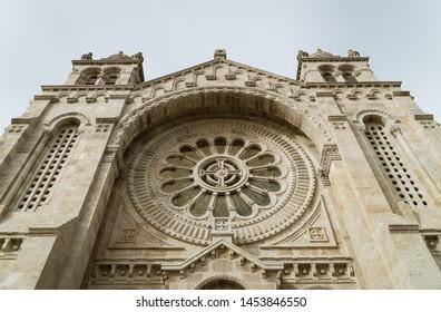 VIANA DO CASTELO, PORTUGAL, July 17, 2019. Santa Luzia sanctuary in Viana do Castelo, Portugal, during summer day.