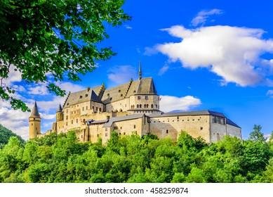 Vianden castle and Vianden city, Luxembourg