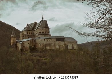 Vianden Castle in Luxembourg in the Eifel