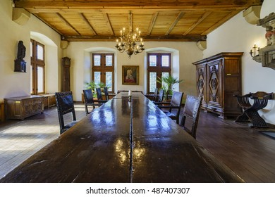 Vianden, SEP 10: The interior of the famous and historical Vianden Castle on SEP 10, 2016 at Vianden, Luxembourg