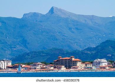 viareggio marina tourist town of the tuscan versiglia