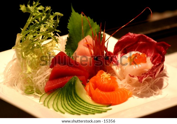 A vibrant assortment of Sushi