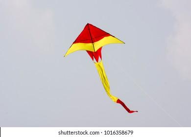 A vibrant colorful kite