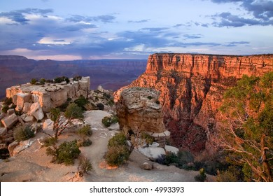 Vibrant colors of Grand Canyon during Sunset