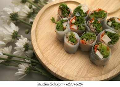 Rice Paper And Spring Rolls Images Stock Photos Vectors