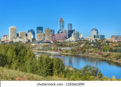 Vibrant Edmonton Skyline