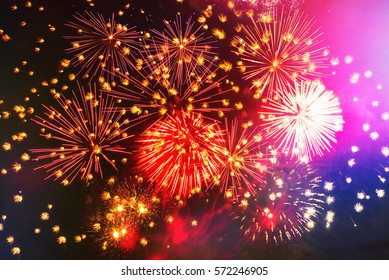 vibrant firework on black
