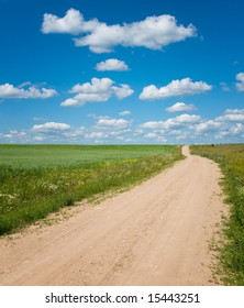 vibrant image of country road