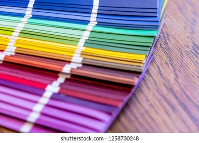 vibrant image of sample color book