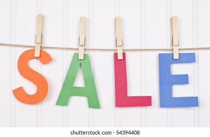 Vibrant Image for Your Next SALE featuring the word SALE.